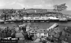 Whitby, From East Cliff c.1960