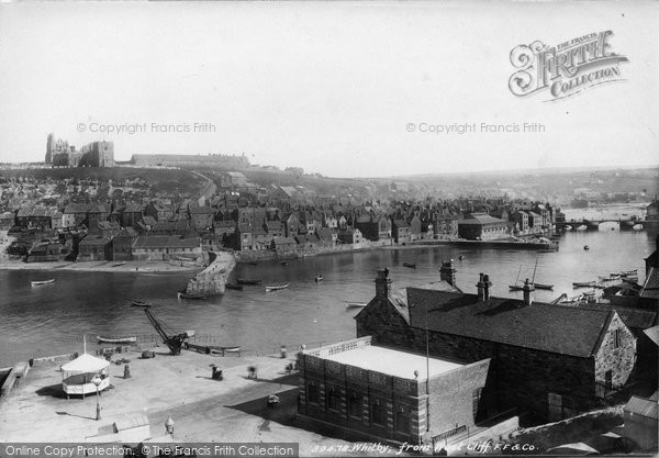 Photo of Whitby, From Wast Cliff 1897