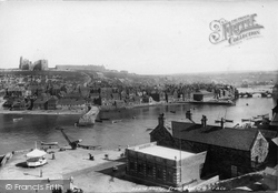 Whitby, From Wast Cliff 1897