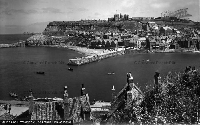 Photo of Whitby, From West Cliff 1934