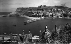 Whitby, From West Cliff 1934
