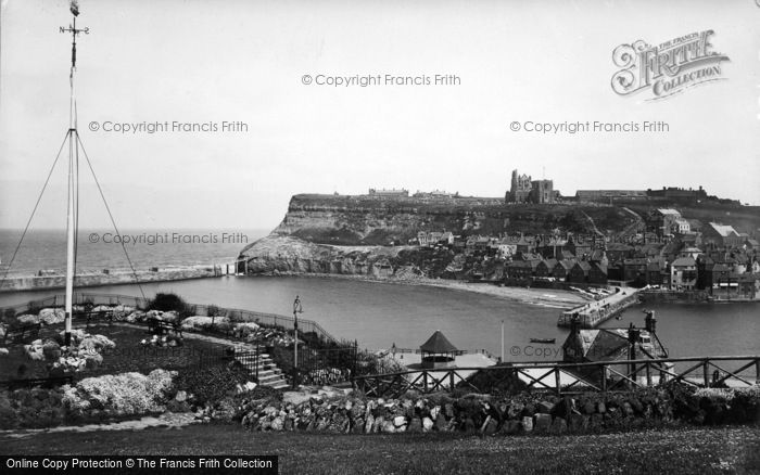 Photo of Whitby, From West Cliff Gardens 1934