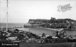 Whitby, From West Cliff Gardens 1934