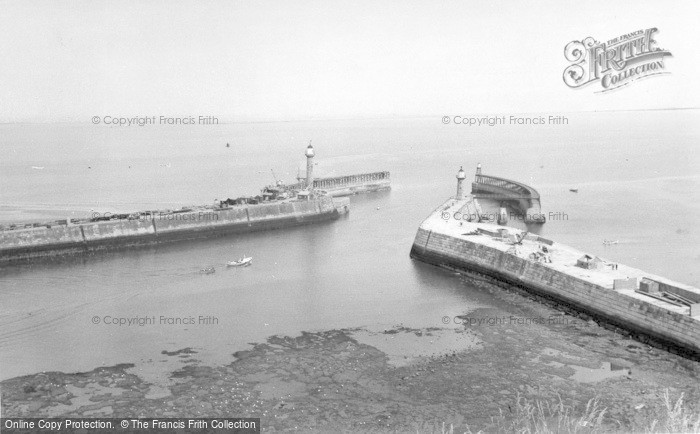 Photo of Whitby, Harbour Entrance c.1960