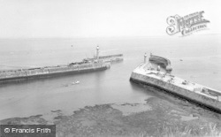 Whitby, Harbour Entrance c.1960