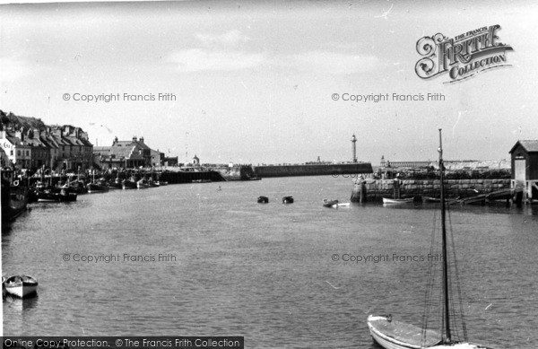 Photo of Whitby, Harbour Mouth c.1950