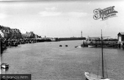 Whitby, Harbour Mouth c.1950