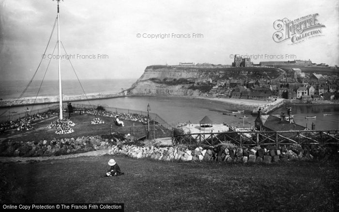 Photo of Whitby, Old Whitby From West Cliff 1923