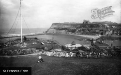 Whitby, Old Whitby From West Cliff 1923