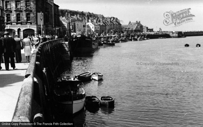 Photo of Whitby, Outer Harbour c.1935