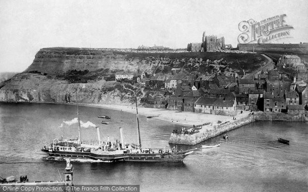 Photo of Whitby, Paddle Steamer Ps Triton, East Cliff 1901