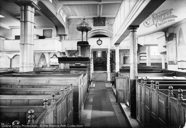 Photo of Whitby, Parish Church Interior 1913
