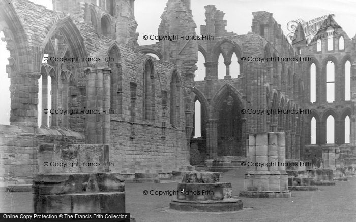 Photo of Whitby, Ruins Of The Abbey c.1955