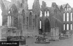 Whitby, Ruins Of The Abbey c.1955