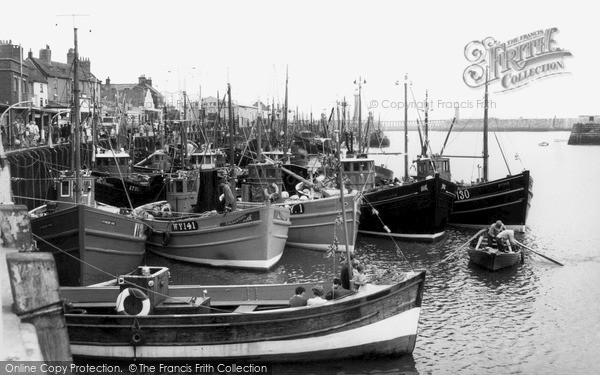 Photo of Whitby, Sailing From The Harbour c.1960
