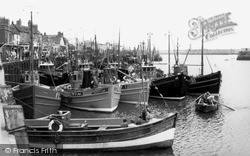 Whitby, Sailing From The Harbour c.1960