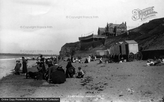 Photo of Whitby, Saloon And Beach 1897