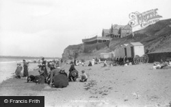 Whitby, Saloon And Beach 1897