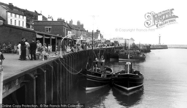 Photo of Whitby, Ships In Harbour c.1960