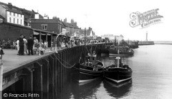Whitby, Ships In Harbour c.1960
