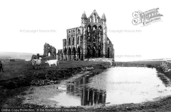 Photo of Whitby, St Hilda's Abbey 1891