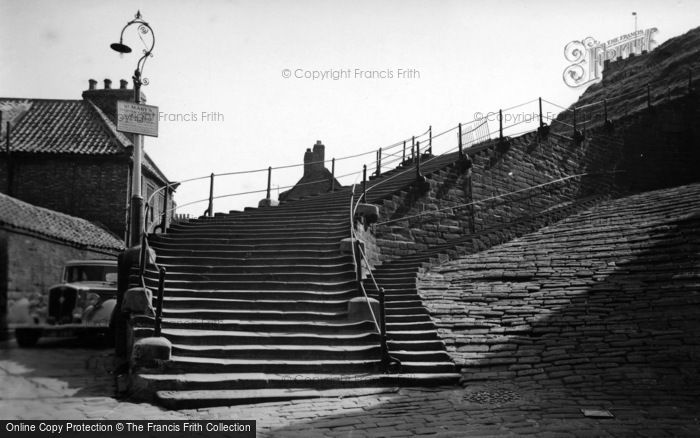Photo of Whitby, The 199 Steps c.1950
