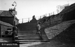 Whitby, The 199 Steps c.1950