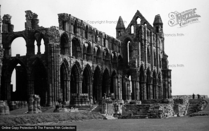 Photo of Whitby, The Abbey 1953