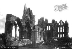 Whitby, The Abbey c.1885