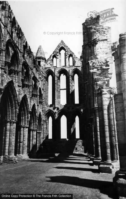 Photo of Whitby, The Abbey c.1955