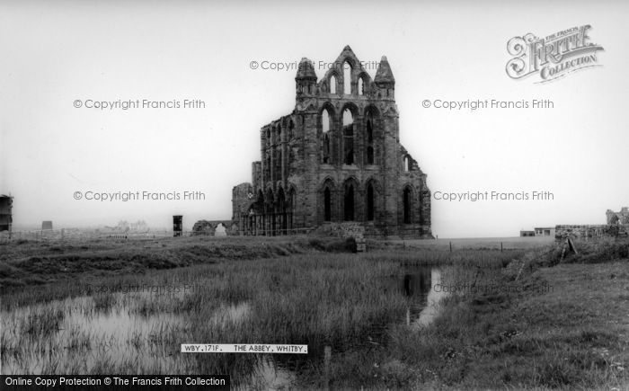 Photo of Whitby, The Abbey c.1960