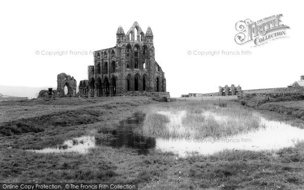 Photo of Whitby, The Abbey c.1965
