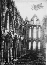 Whitby, The Abbey, Choir c.1885