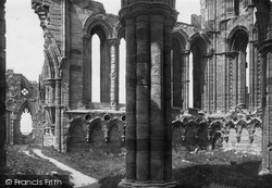 Whitby, The Abbey, North Transept c.1885