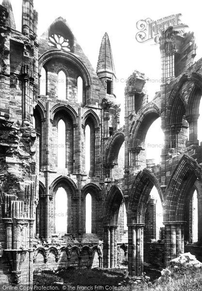 Photo of Whitby, The Abbey, The North Transept c.1885