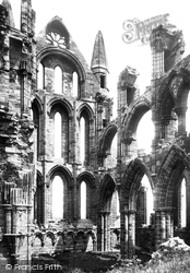 Whitby, The Abbey, The North Transept c.1885