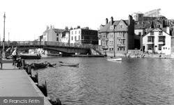 Whitby, The Bridge From Inner Harbour c.1955