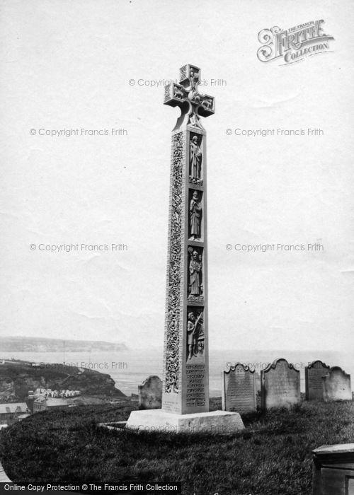 Photo of Whitby, The Caedmon Cross 1901