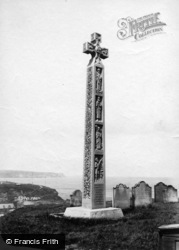 Whitby, The Caedmon Cross 1901