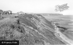 Whitby, The Cliffs c.1955