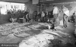 Whitby, The Fish Auction c.1960
