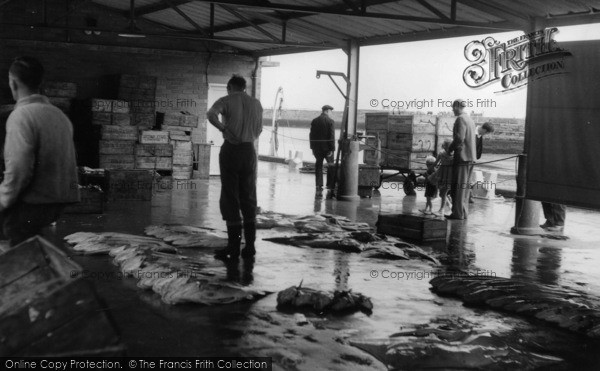 Photo of Whitby, The Fish Market c.1960