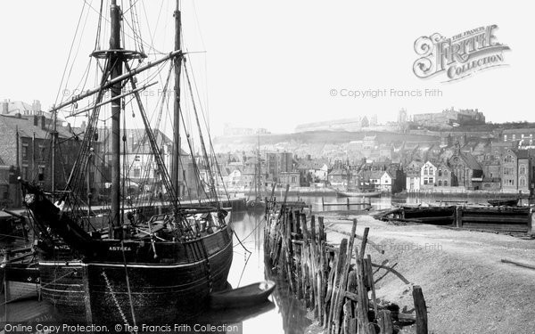 Photo of Whitby, The Harbour 1885
