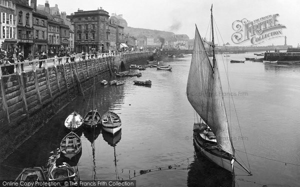 Photo of Whitby, The Harbour 1923