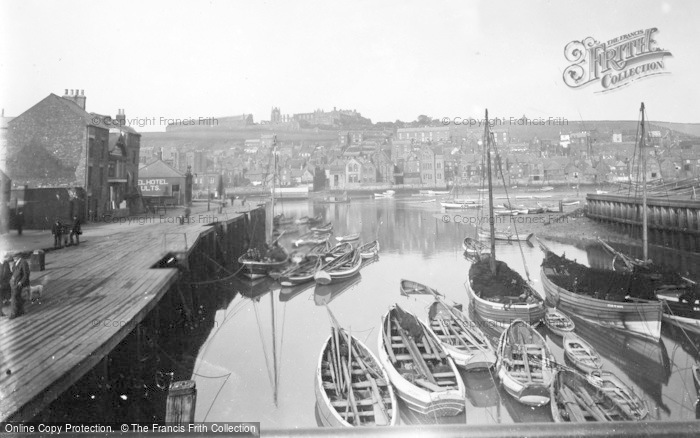 Photo of Whitby, The Harbour 1930