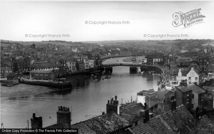 Photo of Whitby, The Harbour And The Bridge c.1960