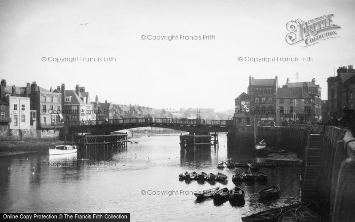 Photo of Whitby, The Harbour c.1935
