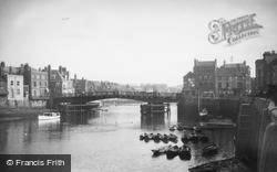 Whitby, The Harbour c.1935