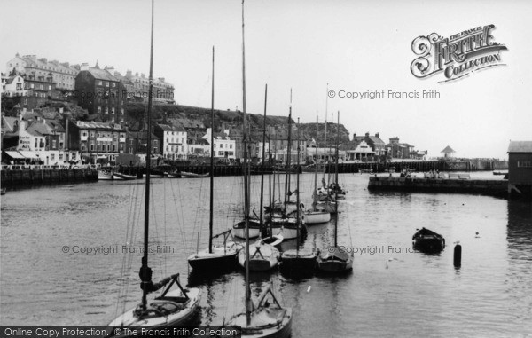 Photo of Whitby, The Harbour c.1955