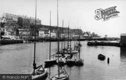 Whitby, The Harbour c.1955